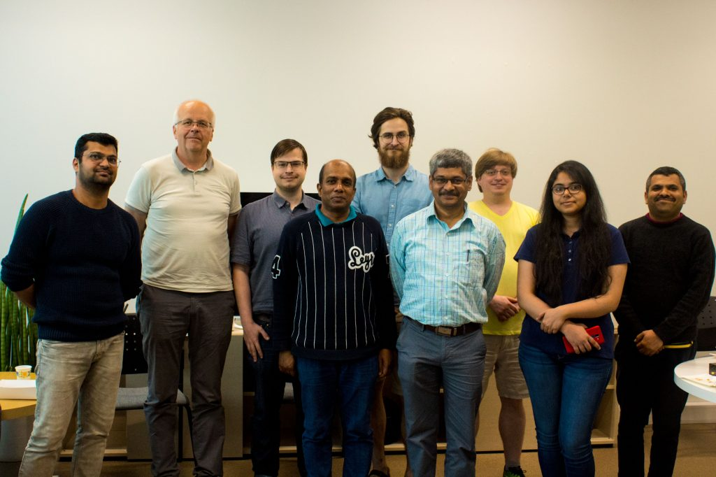 Mobile Cloud Lab together with Prof. Eero Vainikko ( Head of Distributed Systems Chair, 2nd from left )